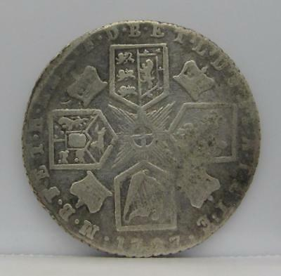 Great Britain 1787 Silver 6-Pence! Very Fine Details-Bent! Km# 606.2! Look!