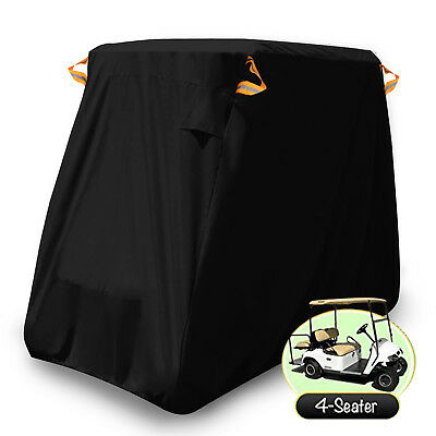 "114"" Waterproof Golf Cart Cover 4-Passenger Storage Fits EZ Go Club Car Yamaha"