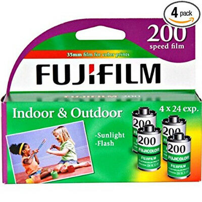 Fujifilm Superia 200 35mm Color Film Roll (24 Exp, 4 Rolls) EXPIRES 2019 FRESH
