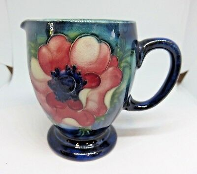 Moorcroft Anemone milk creamer with early stamp Queen