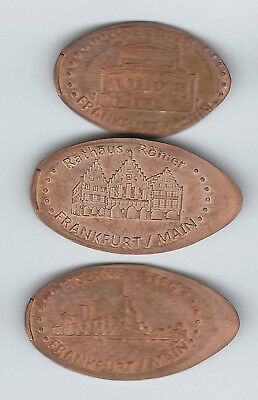 elongated Coin Frankfurt, Papierkrämer, kompletter Satz 2460