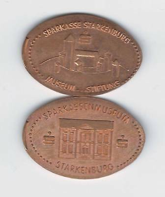 elongated Coin Sparkassenmuseum Starkenburg, kompletter Satz 2472