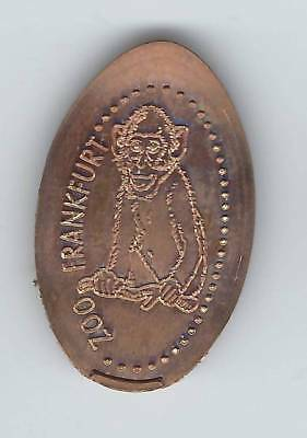 elongated Coin Frankfurt / Main, Zoo Motiv 2, EX! kompl. 1er-Satz 2488