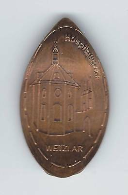 elongated Coin Wetzlar, Hessentag Motiv 3, Hospitalkirche, EX! 2495