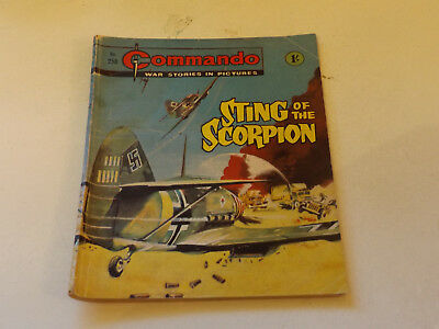 Commando War Comic Number 258,1967 Issue,good For Age,51 Years Old,very Rare.