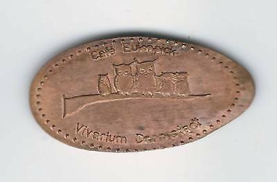 elongated Coin Vivarium Darmstadt, kompl. 1er-Satz, 2497
