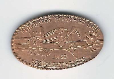elongated Coin Frankfurt / Main, Flughafen, EX 1 Ju 52, 2498