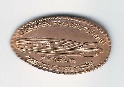 elongated Coin Frankfurt / Main, Flughafen, EX 3, Zeppelin, 2500