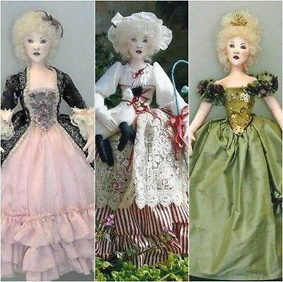 """*new* Cloth Art Doll Paper Pattern """"marie Antoinette"""" By Sylvia Schorr"""
