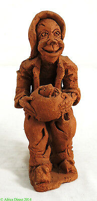 Clay Figure Hobo with Bowl Malawi African