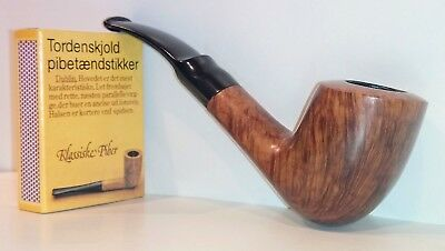 Pfeife Savinelli Autograph 5, Flame Grain, 6mm Filter, Estate, beraucht,Bruyere