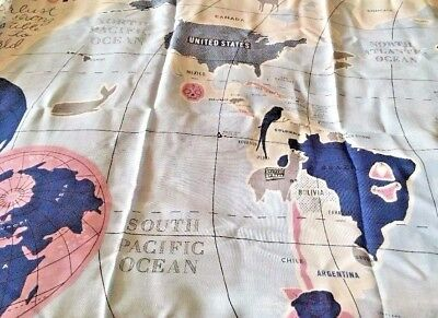 Kate Spade BNWT World map Scarf Oblong Multicolor Viscose Large BNWT World Map