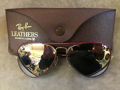 vintage rayban usa  58 leather  like a new condition mirror glass B&L