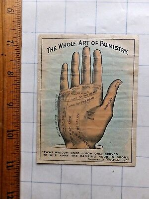 The Whole Art of Palmistry. 1908 Advertising Brochure for Sapolio Soap.