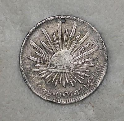 Mexico 1839 8 Reales - .903 silver - $.99 auction