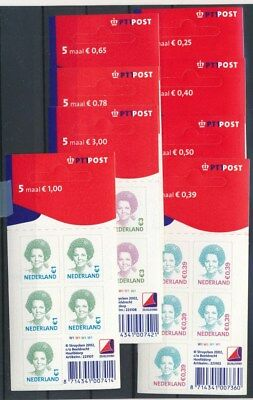 [G90875] Netherlands 8 good complete booklets Very Fine Adhesive