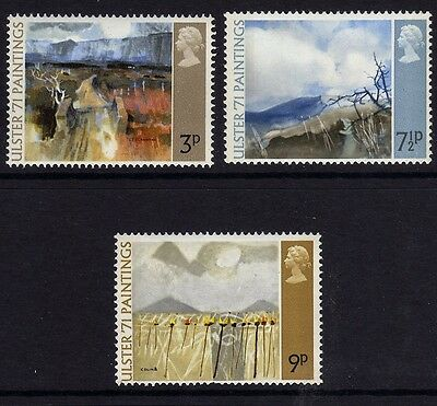GB 1971 Ulster Paintings SG881-883 MNH Mint