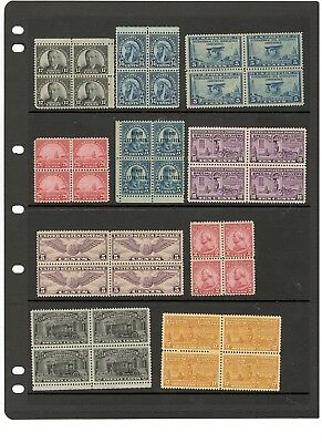 Us Early Block Of 4 Collection, Mint, Og
