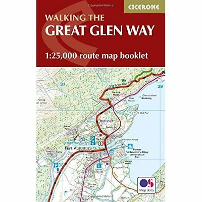 The Great Glen Way Map Booklet: 1:25,000 OS Route Mappi - Paperback NEW Paddy Di