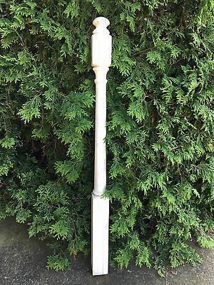 Vintage Carved Turned Wood Pine NEWEL POST Architectural Salvage 48""