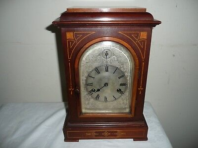 Nicely Inlaid, HAC 3/4 Westminster Chimes Bracket Clock, Dated 1912. Restoration