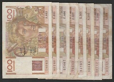 15 Pieces Of 100 Francs From France C1