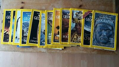 12 National Geographic Magazines January to December 1996