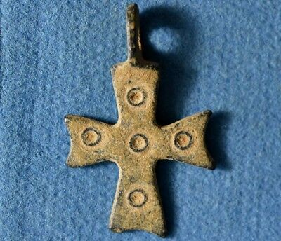 Judaea Byzantine, Christian Ancient bronze Cross Pendant / Amulet.