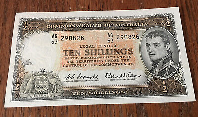 Ten Shilling Note - Commonwealth Of Australia - About Uncirculated