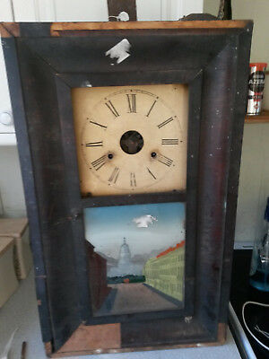 Antique Jerome - American - New Haven  Wall Clock- Restoration Project -