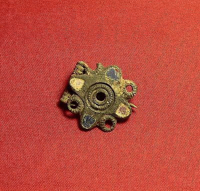 Fine Ancient Roman Enamelled Fibula or Brooch, 3. Century