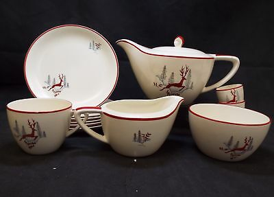 Art Deco/Vintage Period CROWN DEVON Fieldings 13 Pieces Tea Set - W20