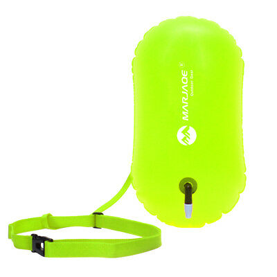 NEW Safety Swim Buoy Upset Inflated Flotation Device for Open Water Swimming