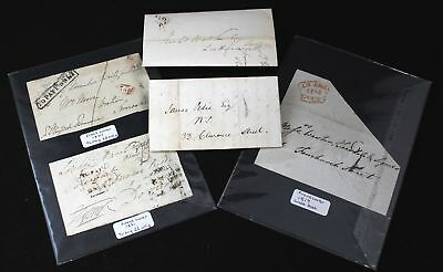 Antique English GEORGIAN, VICTORIAN LETTERS + FRONT COVERS Pre-post 1801+ - C15