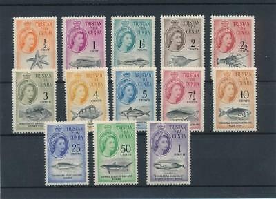 [5340] Tristan Cunha 1961 good set very fine MNH stamps value $160