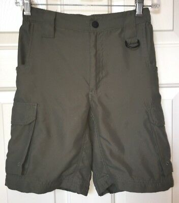 Boy Scout BSA Switchback Shorts Boys Youth M Medium Olive Green Polyester