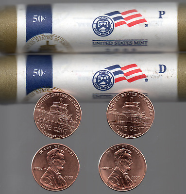 2009 P-D LINCOLN Bicentennial 1¢ PRESIDENCY Brilliant Uncirculated 2 Coins