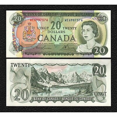 Canada P-89b 1969 20 Dollars- Grades Choice Almost Uncirculated