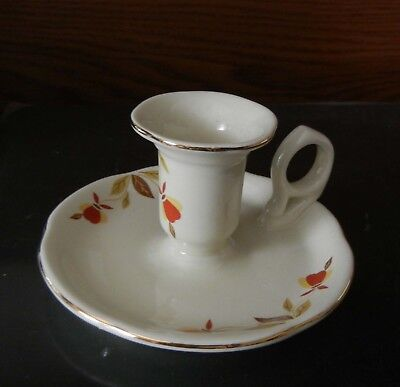 Hall China Jewel Tea Autumn Leaf Club candle holder