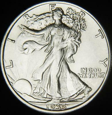 1935 Choice AU Walking Liberty Half - Always Best Value @ CherrypickerCoins-197