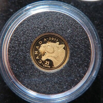 Canada  - 2011 Cougar $5 Gold Proof Coin