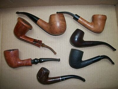 Vtg. Estate Lot of 7- Estate Tobacco Pipes/ Grabow Freehand,Magic Inch, All Nice