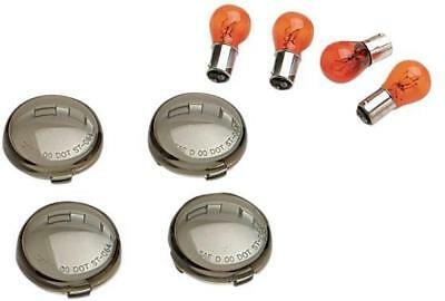 DS Smoked Turn Signal Lens Kit Harley FXDF Dyna Fat Bob 2008-2016