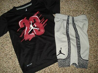 Boys Nike Air Jordan Dri Fit size 4 Shorts & Top