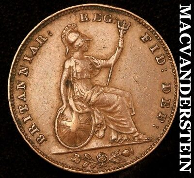 Great Britain: 1846 Farthing - Almost Uncirculated!!  Scarce!!  #y8031