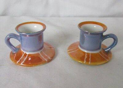 Pair Art Deco Noritake Chambersticks