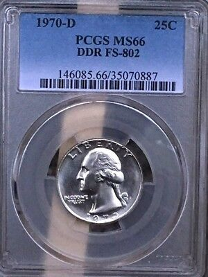 1970-D Double Die Reverse Washington PCGS MS 66 DDO FS-802 * RARE! *
