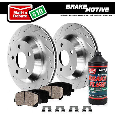 FRONT POWERSPORT DRILLED SLOTTED Lexus IS250 2006-2008 Brake Rotors