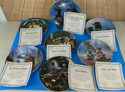 Star Wars Hamilton 7 Piece Plate collection (various) Limited 1987 (S4)