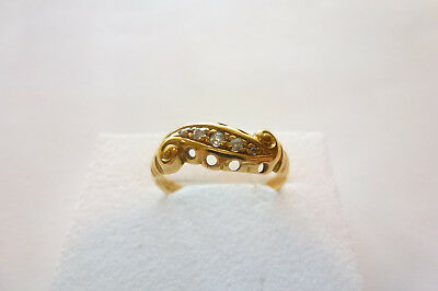 Wunderschöner exclusiver Jugendstil Ring Gold 750 (England) mit Diamanten